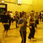 Photograph of Zumba participants dancing
