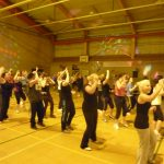 Photograph of Zumba participants mainly ladies