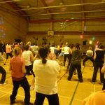Photograph of Zumba participants looking forwards