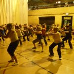 Photograph of Zumba participants getting fit