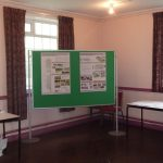 Photographs of displayand proposals boards and exhibition materials