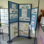 Photographs of display boards and exhibition materials at Coxhoe in 2011