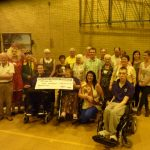 Photograph of orgamisers with funding winners