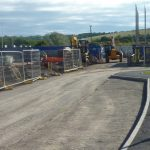 Photograph of next phase site preparation