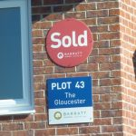 Photograph of Plot 43 Sold signs
