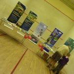 Photograph of exhibition stands at routes launch event