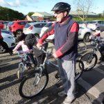 Photograph of John Hepplewhite on his bike