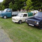Photograph of Mini and ford Van and Escort distanced