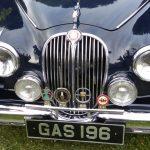 Photograph of Jaguar with GAS 196 reg.