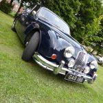 Photograph of Jaguar at angle turning