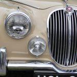 Photograph of beige Jaguar grille