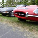 Photograph of E Type Jaguar at grille level
