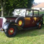 Photograph of classic car, possibly 20's ford