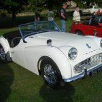 Photograph Triumph sports car in white
