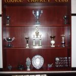 Photograph of a trophy cabinet