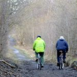 Photograph of cyclists on Limestone Linx