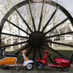 Photo of pit wheel with lambrettas by Ivan Lowther