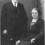 Photo of William and Alice Liddle, Liddle's Shop, Coxhoe