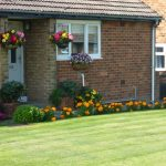 Photo of hanging baskets at a residents house in coxhoe