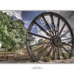 Image of pit wheel drawing undertaken by anonymous local artist