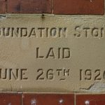Photograph of foundation stone