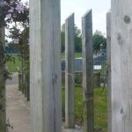 Photograph of wooden posts