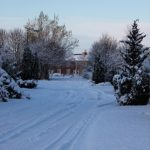 Photograph of snowy footpath in Beechfield Rise