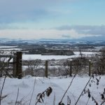 Photograph of view of snowy landscape from Coxhoe Woods which is great