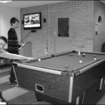 Photograph of pool table at youth club