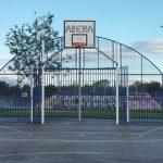Photograph of goal and basketball net