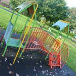 Photograph of childs climbing play equiptment