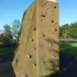 Photograph of climbing wall