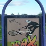 Photograph of trax sign