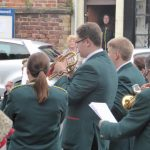 Photograph of cornet players