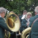Photograph of brassband paying