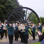 Photograph of people in the band band at pitwheel