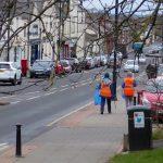 Photograph of volunteer litter pickers in front street, coxhoe