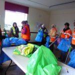 Photograph of volunteers preparing for litter pick