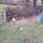 Photograph of rubbish on land before clearance