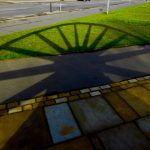 Photograph of pit wheel shadow