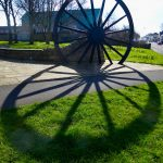 Photograph of pit wheel with massive fat shadow