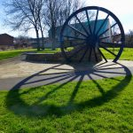 Photograph of pit wheel with incredibleshadow