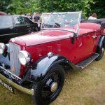 Photograph of classic convertible car
