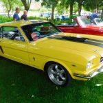Photograph of yellow coupecar
