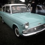 ford anglia on village green