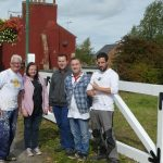 A happy group of volunteers pleased with their work