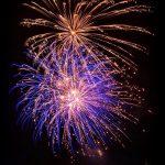 fireworks going off burst