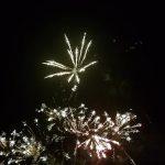 fireworks going off like sparklers