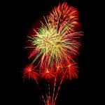 fireworks going off multiple burst