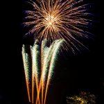 fireworks going off star burst